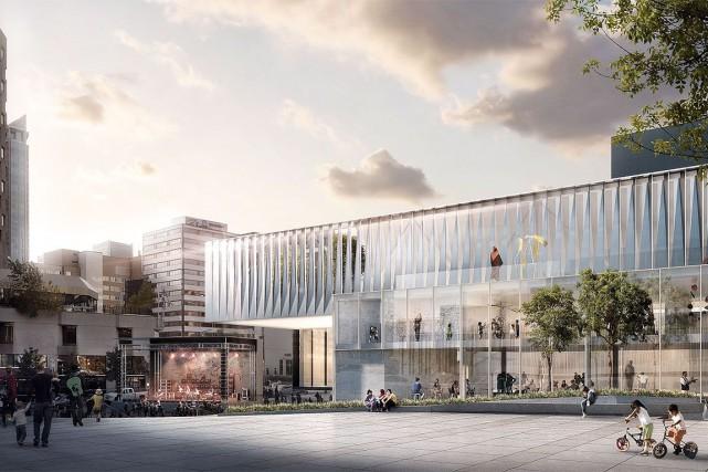 Les travaux de transformation du Musée d'art contemporain de Montréal, qui... (Image fournie par la MAC)