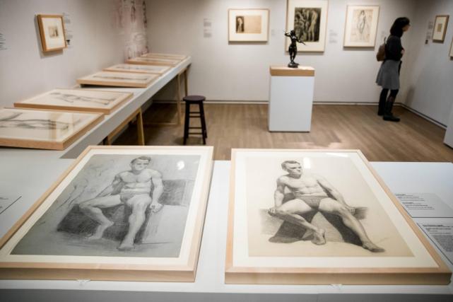 Vue de l'exposition Le modèle dans l'atelier, Montréal... (Photo Marco Campanozzi, La Presse)