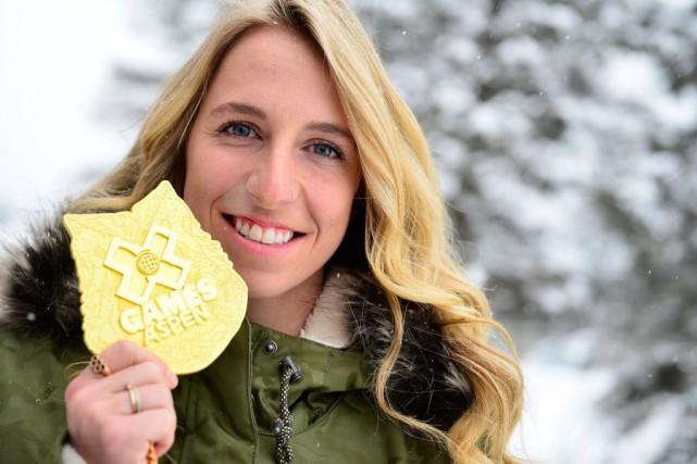 Laurie Blouin a remporté une médaille d'or au... (PHOTO YAN DOULET, LE SOLEIL)