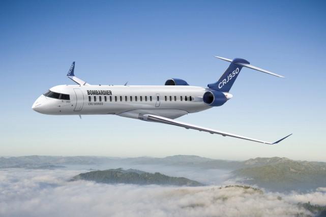 Le CRJ550 peut transporter jusqu'à 50 personnes.... (Photo fournie par Bombardier)