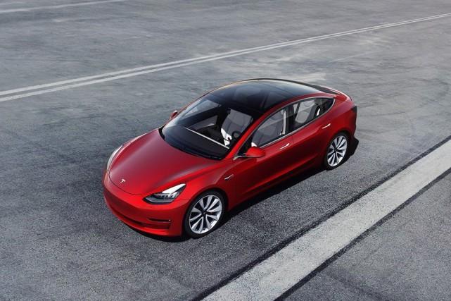 Une Tesla Modèle 3.... (Photo fournie par Tesla)
