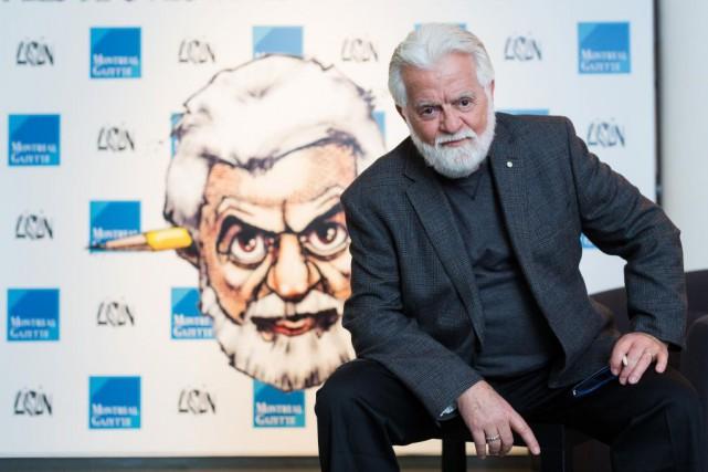 Terry Mosher dessine sous le nom d'Aislin.... (Photo Edouard Plante-Fréchette, La Presse)