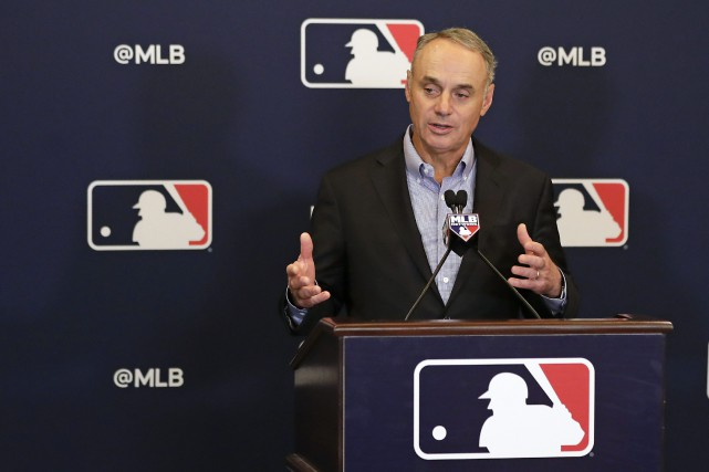 Le commissaire du Baseball majeur, Rob Manfred.... (Photo John Raoux, Associated Press)