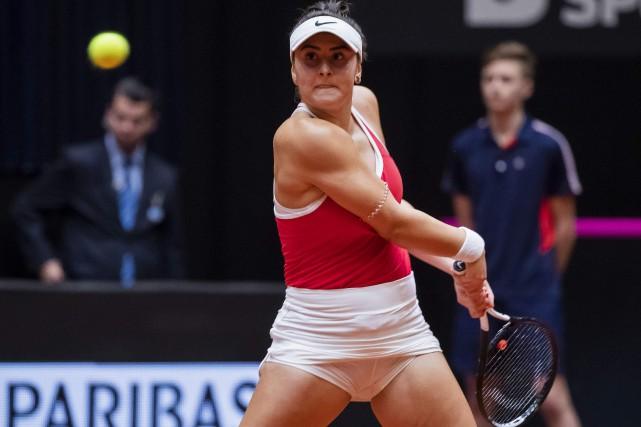 Bianca Andreescu... (Photo KOEN SUYK, Agence France-Presse)