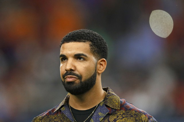 La rappeur Drake... (Photo AARON M. SPRECHER, archives AGENCE FRANCE-PRESSE)
