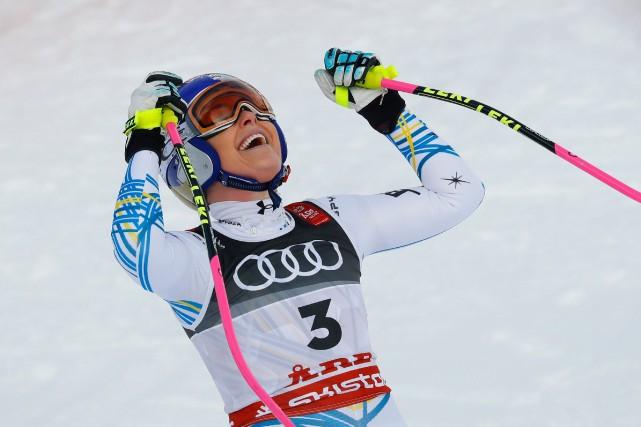 Lindsey Vonn quitte la compétition avec un total... (Photo LEONHARD FOEGER, REUTERS)