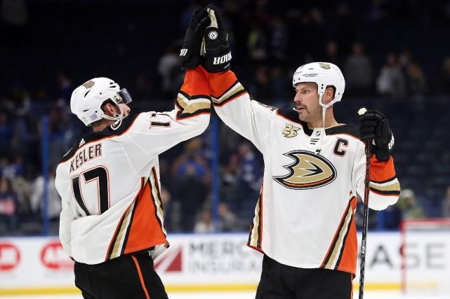 Les Ducks d'Anaheim viennent au troisième rang de... (Photo Kim Klement, archives USA TODAY Sports)