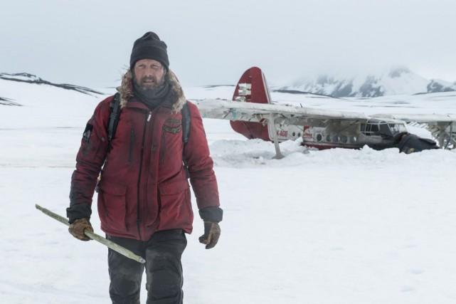 Mads Mikkelsen dans Arctic, film de Joe Penna... (Photo fournie par Entract Films)