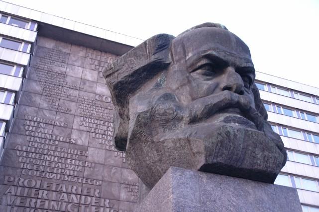Un monument représentant le philosophe allemand Karl Marx... (WIKICOMMONS)