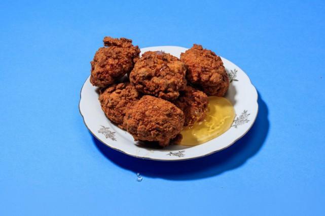 Les croquettes de poulet façon Bar St-Denis, à... (Photo Hugo-Sébastien Aubert, La Presse)