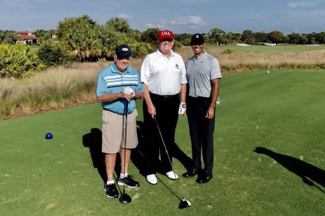 Tiger Woods s'est «bien amusé» avec Donald Trump