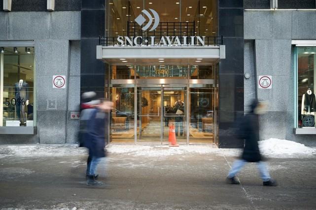 Le siège social de SNC-Lavalin, à Montréal.... (PHOTO ANDRÉ PICHETTE, ARCHIVES LA PRESSE)