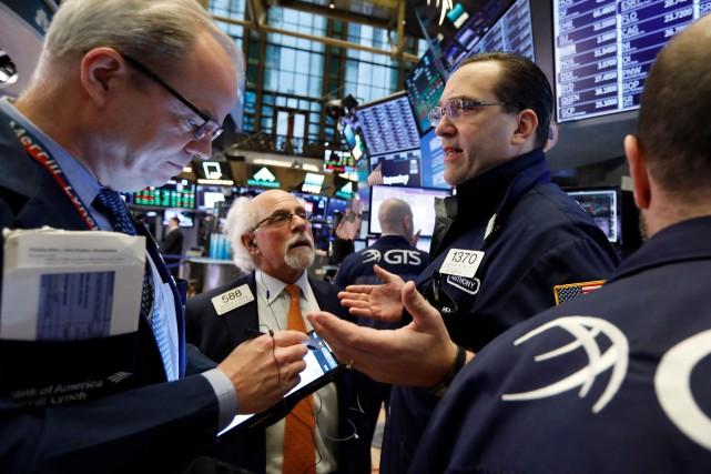 Le Dow Jones progressait de 0,02% et le... (Photo Richard Drew, AP)