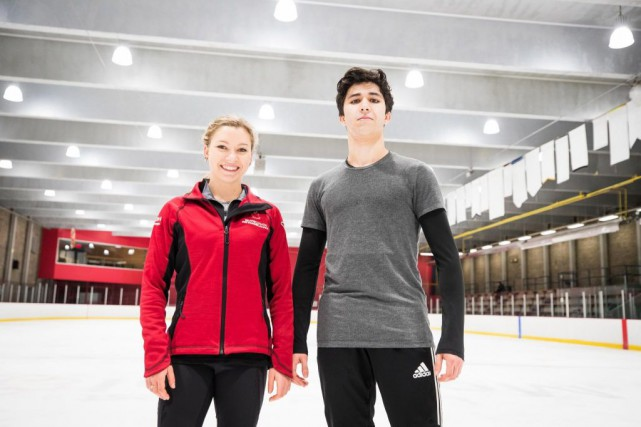 Marjorie Lajoie et Zachary Lagha participeront aux Championnats... (PHOTO OLIVIER PONTBRIAND, LA PRESSE)