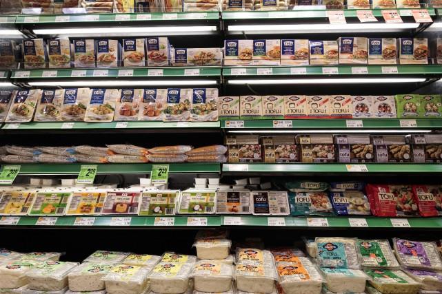 Un étalage de tofu.... (PHOTO HUGO-SEBASTIEN AUBERT, LA PRESSE)