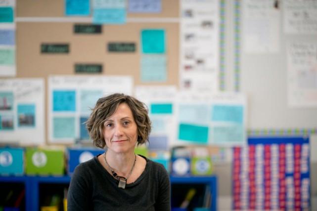 Enseignante au primaire, Geneviève Piché est aussi auteure.... (PHOTO FRANÇOIS ROY, LA PRESSE)