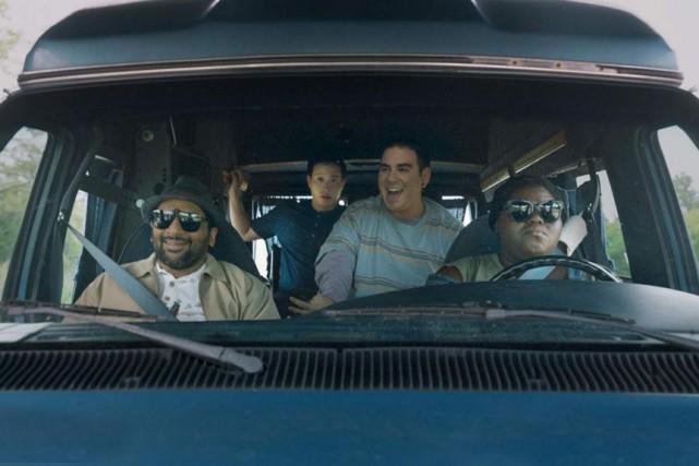Ravi Patel, Hayden Szeto, Grant Rosenmeyer et Gabourey... (PHOTO TIRÉE D'IMDB)