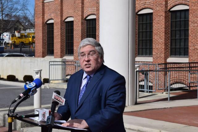 Le procureur de Virginie-Occidentale Patrick Morrisey... (PHOTO MATTHEW UMSTEAD, ARCHIVES ASSOCIATED PRESS)