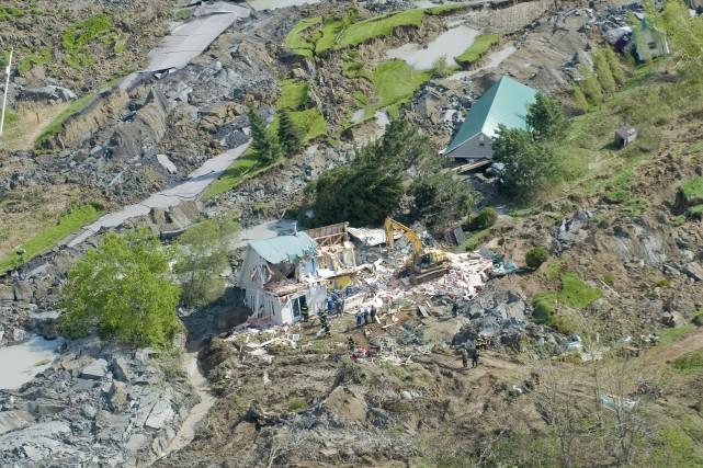 En 2010, à Saint-Jude en Montérégie, un glissement... (PHOTO GRAHAM HUGHES, ARCHIVES LA PRESSE CANADIENNE)