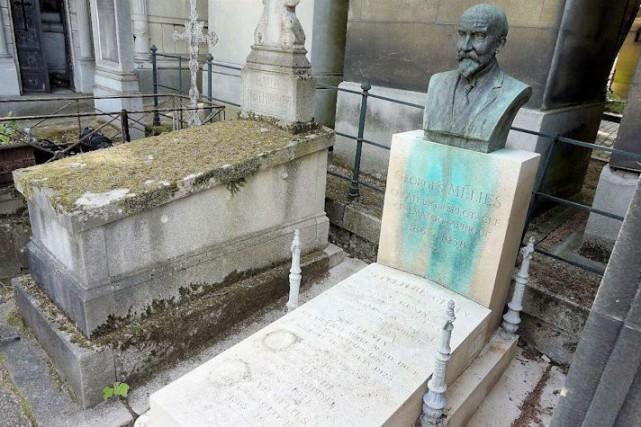 La sépulture de Georges Méliès est en piteux... (PHOTO TIRÉE DU SITE THEGEORGESMELIESPROJECT.ORG)
