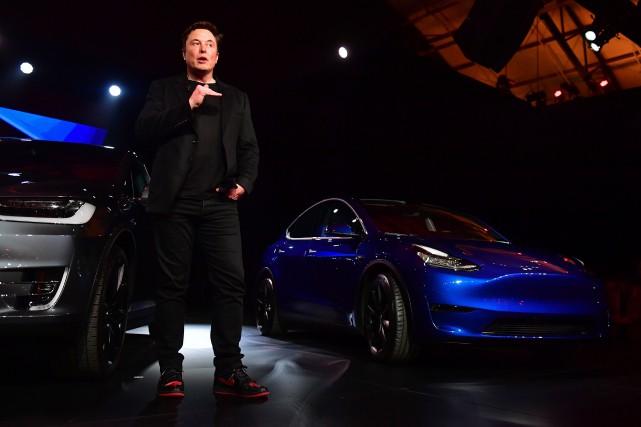 Le patronde Tesla, Elon Musk.... (PHOTO FREDERIC J. BROWN, AGENCE FRANCE-PRESSE)