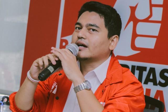 Mikhail Gorbachev Dom est un jeune Indonésien de... (PHOTO FOURNIE PAR LA CAMPAGNE DE MIKHAIL GORBACHEV VIA AFP)