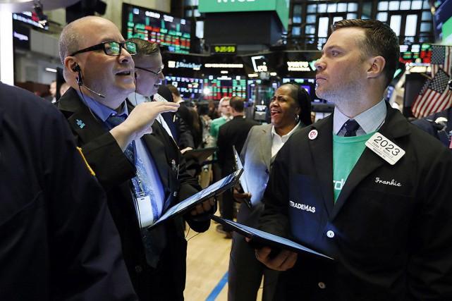 Les Bourses nord-américaines ont terminé la semaine sur une note positive... (PHOTO RICHARD DREW, ASSOCIATED PRESS)