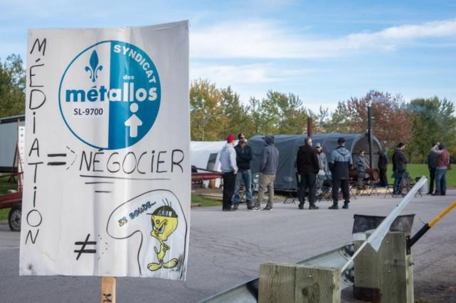 Le conflit de travail à l'aluminerie ABI à... (PHOTO FRANÇOIS GERVAIS, ARCHIVES LE NOUVELLISTE)