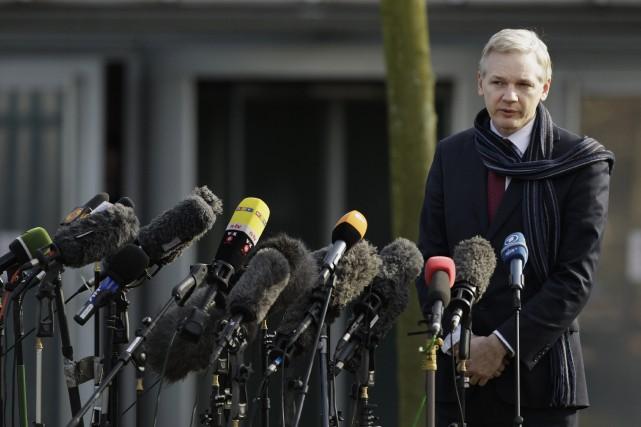 Julian Assange... (PHOTO MATT DUNHAM, ARCHIVES AP)