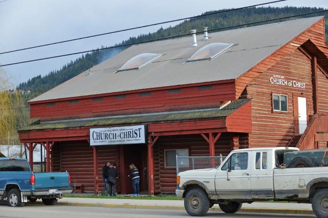 Un homme de 25 ans a été placé en détention après une fusillade dans une église... (PHOTO MURRAY MITCHELL, PC)
