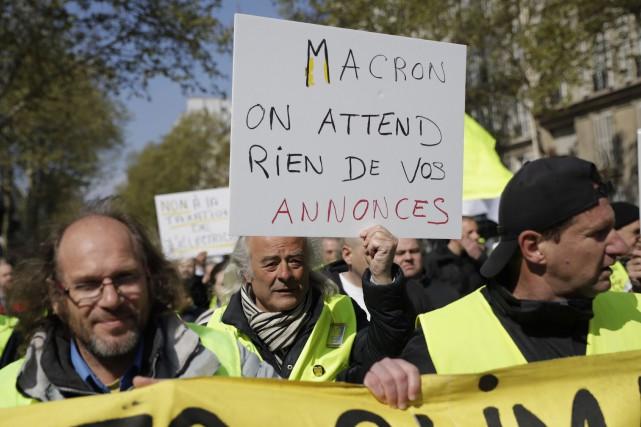 À 20h (14 h à Montréal), Emmanuel Macron... (PHOTO THOMAS SAMSON, AFP)