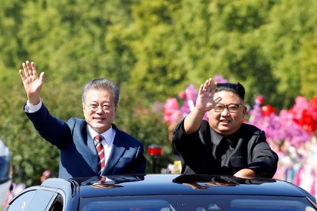 Le président sud-coréen Moon Jae-in, qui a été... (PHOTO HANDOUT, REUTERS)