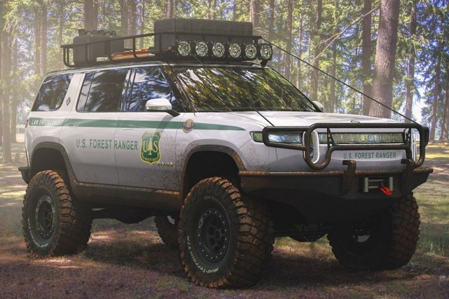 Rivian R1S Forest Ranger... (PHOTO FOURNIE PAR RIVIAN)