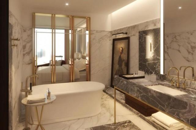 Une chambre de l'hôtel Four Seasons, qui ouvrira... (PHOTO FOURNIE PAR L'HÔTEL)