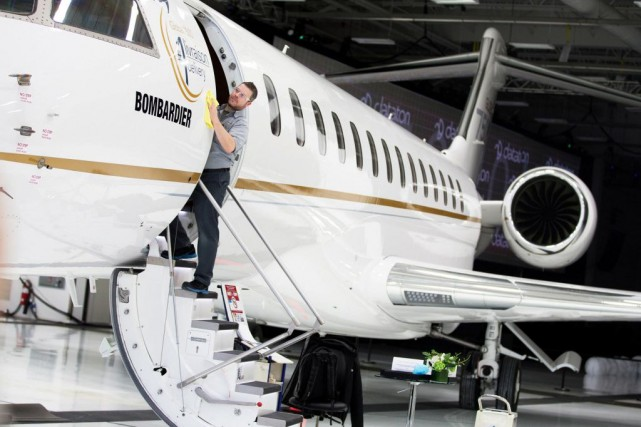 Le Global 7500 de Bombardier fait fureur auprès des... (PHOTO CHRISTINNE MUSCHI, REUTERS)