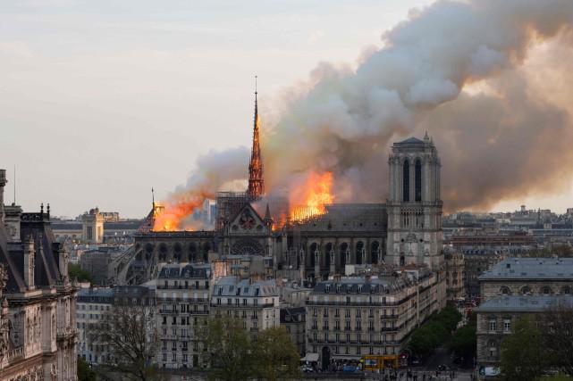 L'incendie de Notre-Dame-de-Paris est l'un des pires sinistres... (PHOTO  AFP)