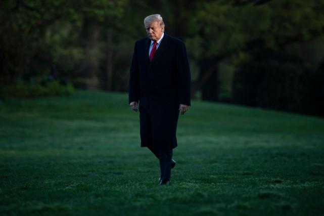 Le président américain Donald Trump... (PHOTO BRENDAN SMIALOWSKI, AGENCE FRANCE-PRESSE)