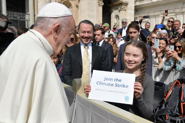 «Le Saint Père a remercié et encouragé Greta... (PHOTO AGENCE FRANCE-PRESSE)
