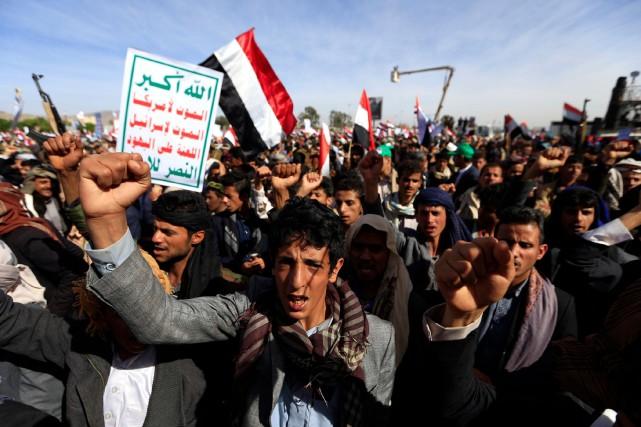 «L'Amérique n'est pas seulement impliquée dans la guerre... (PHOTO MOHAMMED HUWAIS, AFP)