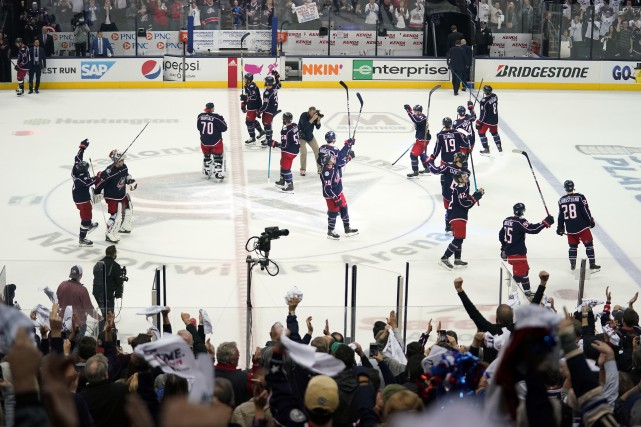 Les Blue Jackets de Columbus ont causé toute... (PHOTO AARON DOSTER, USA TODAY SPORTS)