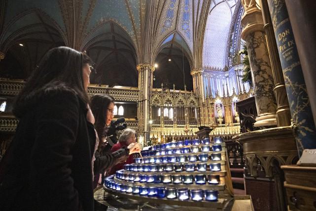 Unemessede solidarité a été célébrée à laBasiliqueNotre-Dame de... (PHOTO PATRICK SANFAÇON, LA PRESSE)
