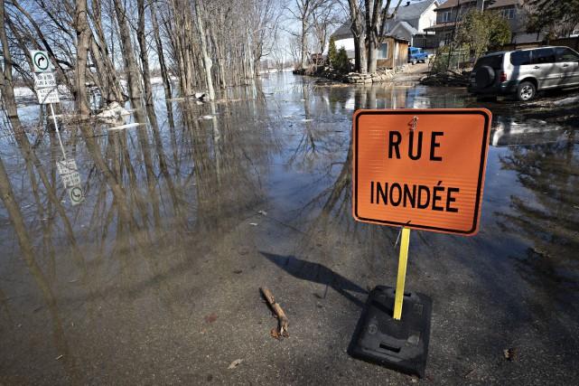 La Ville de Laval est passée à l'état d'urgence sur son territoire. Mercredi,... (PHOTO PATRICK SANFAÇON, LA PRESSE)