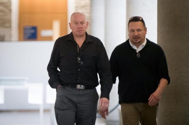 Les accusés, Derek White et Hunter Montour... (PHOTO OLIVIERJEAN, LA PRESSE)