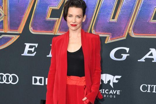 Evangeline Lilly en DenisGagnon àlapremière d'Avengers: Endgame... (PHOTO VALÉRIEMACON, AGENCE FRANCE-PRESSE)