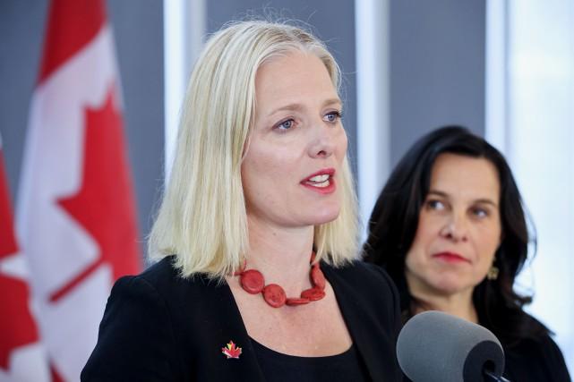 La ministre de l'Environnement, Catherine McKenna, et la... (PHOTO ALAIN ROBERGE, LA PRESSE)