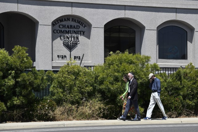 La Synagogue de Poway.... (PHOTO DENIS POROY, AP)