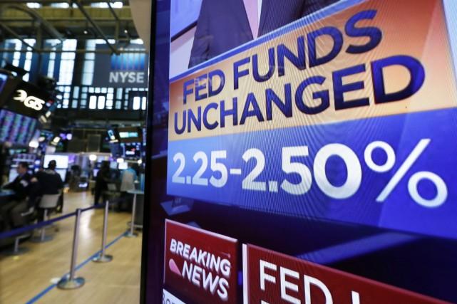 Dans un revirement spectaculaire en mars, la Fed... (PHOTO RICHARDDREW, ARCHIVES AP)