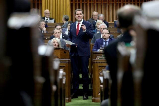 Le chef conservateur Andrew Scheer... (PHOTO CHRIS WATTIE, ARCHIVES REUTERS)