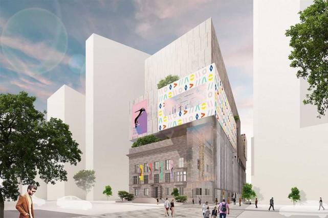 Une esquisse de l'agrandissement projeté du musée McCord... (IMAGE FOURNIE PAR LE MUSÉE MCCORD)
