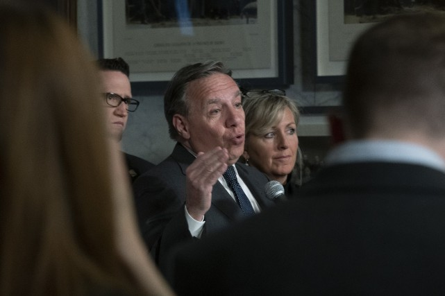 Le premier ministre François Legault... (PHOTO JACQUES BOISSINOT, LA PRESSE CANADIENNE)